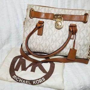 White MK print Hamilton Bag